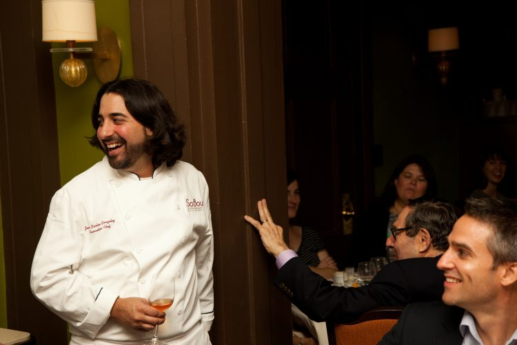 Chef Juan Carlos is introduced at The Beard House dinner. Photo courtesy Jeffrey Gurwin