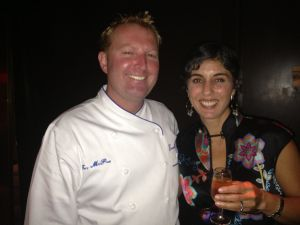 Chef Tory McPhail with Katherine Deumling